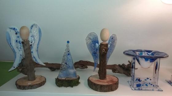 Engel blau Weihnachtsbaum blau  Duftlampe blau