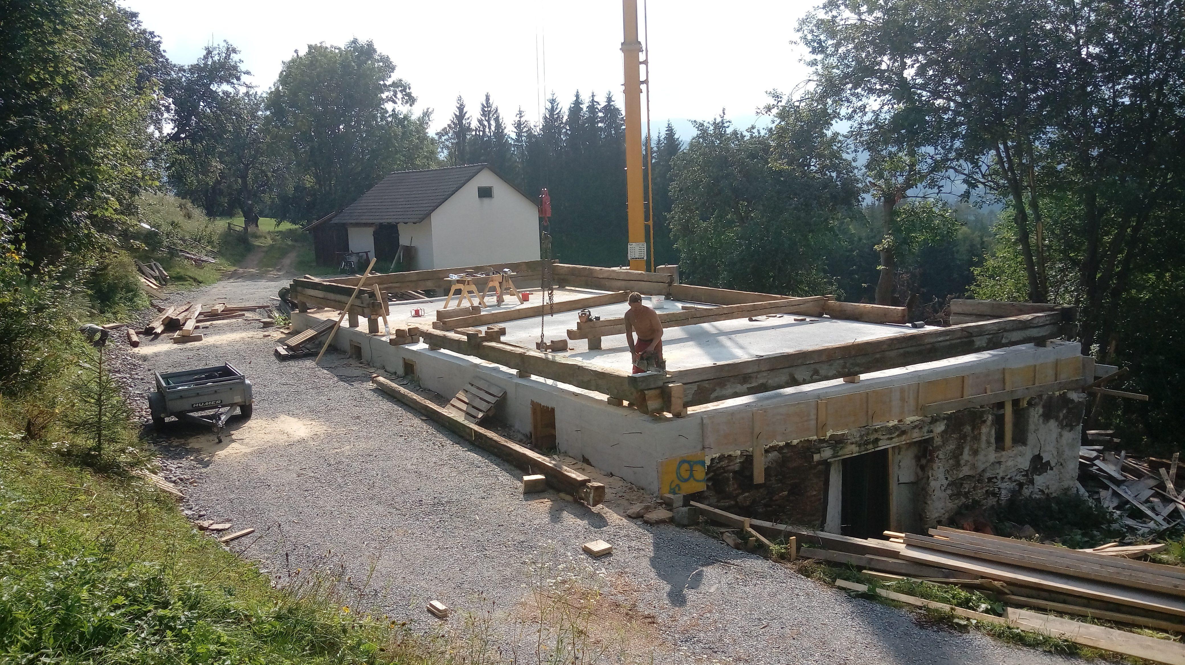 Aufbau Blockhaus alt