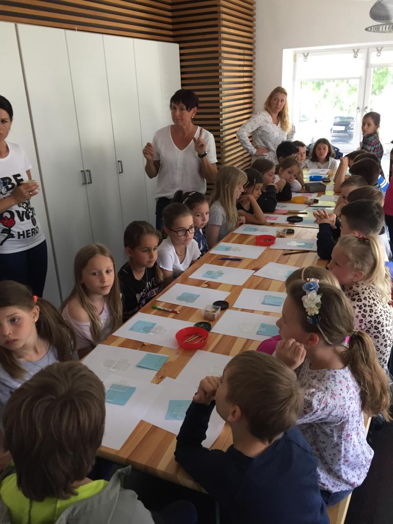 Glas Workshop im Klassenzimmer