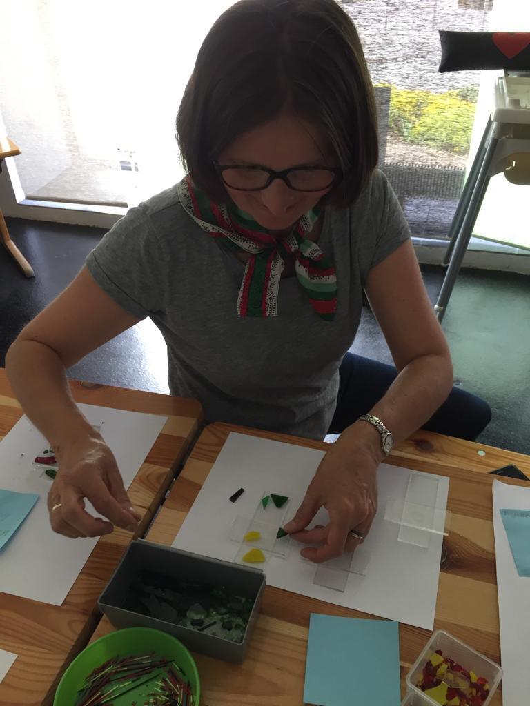 Lehrerin beim Workshop